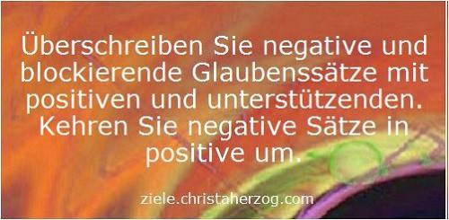 Negative und Blockierende Glaubenssätze