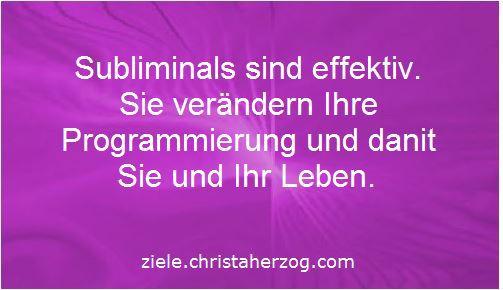 Subliminals sind effektiv und verändern