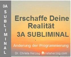 Erschaffe Deine Realität 3A Subliminal Bild