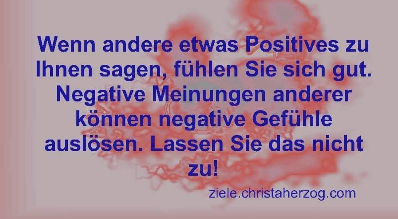 Positive vs negative Meinungen und Gefühle
